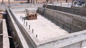 בנית בריכת בטון