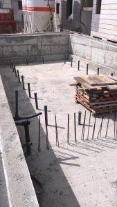 בריכה בטון בבניה